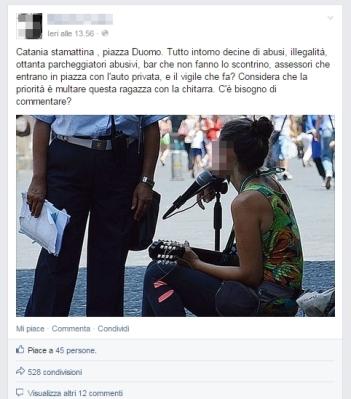 Un classico esempio di post bufala su Facebook